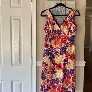 Donna Ricco Dresses - Donna Ricco Sleeveless Floral Dress Sz 4
